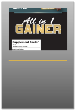 ALL IN ONE GAINER THE NUTRITION  ITALIA